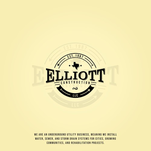 Old School logo concept for Elliott Construction