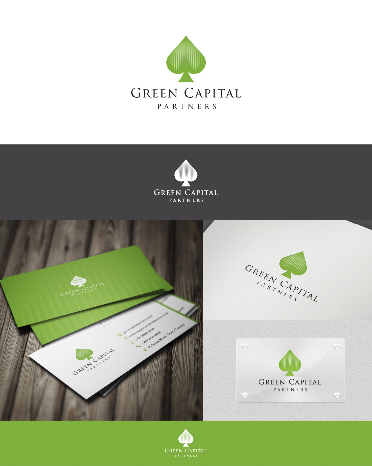 New logo and business card wanted for Green Capital Partners