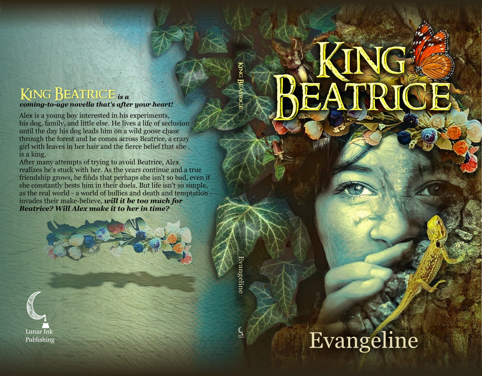 Create a beautiful book cover for novella: King Beatrice!