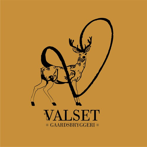 Deer design for Beer brewery