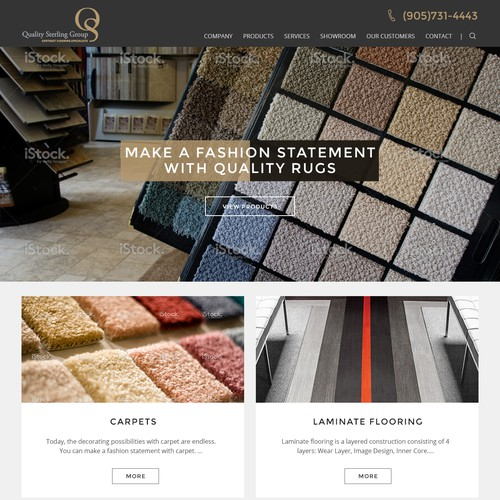 Webdesign for Canada's Largest Flooring Company