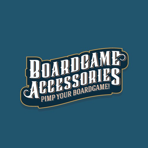 Vintage logo for boardgame app & website