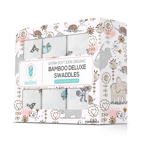 Box for bamboo swaddles
