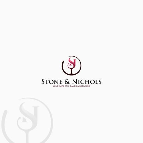 Monogram winery logo design