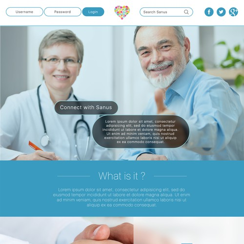 Home Page design for a medical center