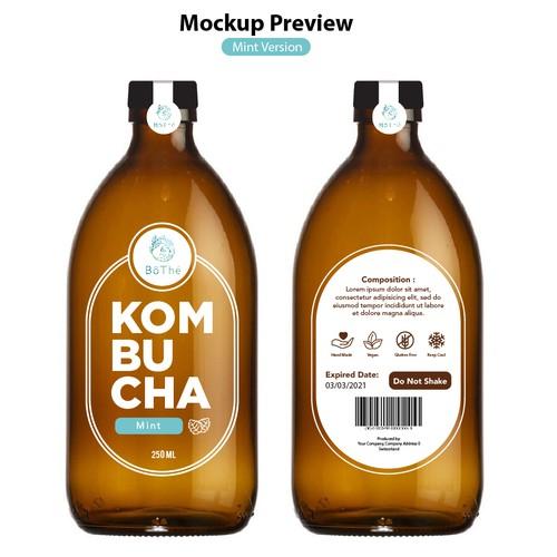 Product Label For Kombucha