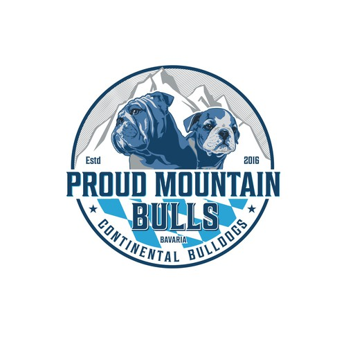 Logo concept for Proud Mountain Bulls