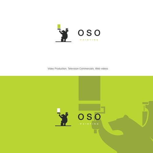 Flat, simple bold painting job logo