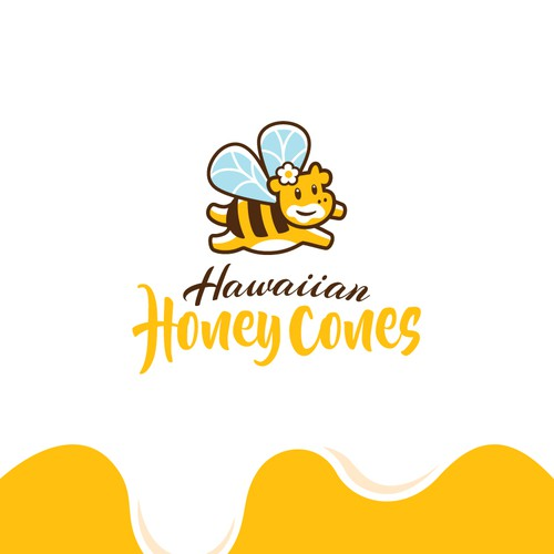 Fun logo for honey ice cream shop