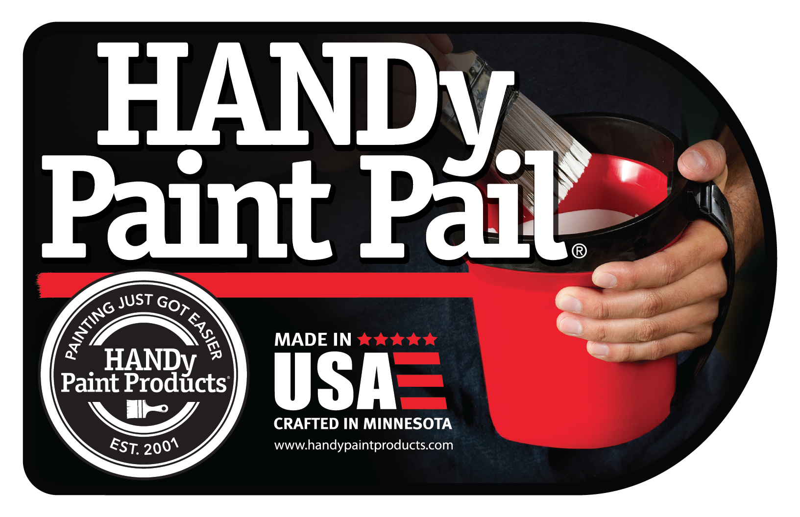 Give us a HAND and help design a new label for the HANDy Paint Pail