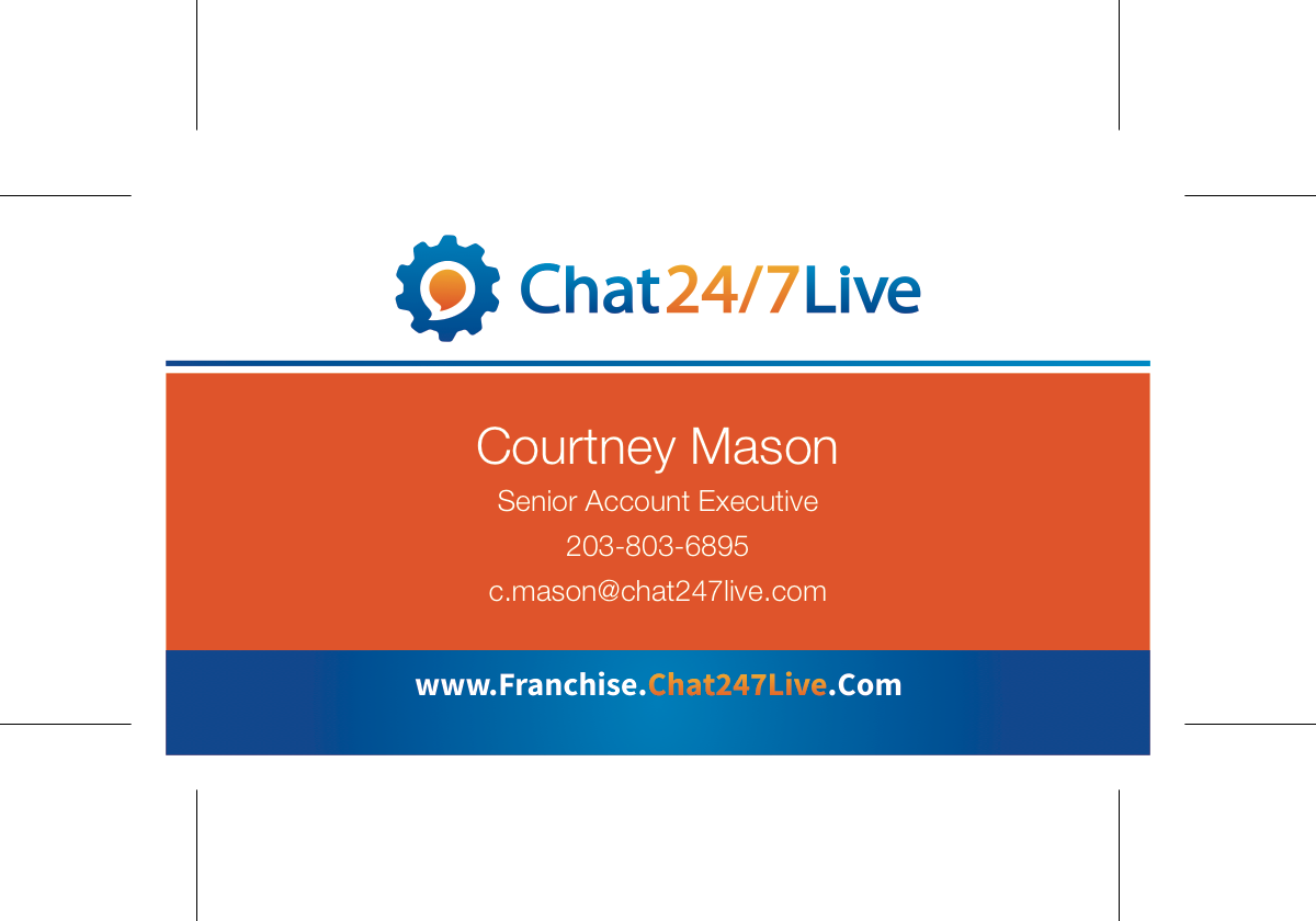 Redesign of Chat 247 Live Business Card