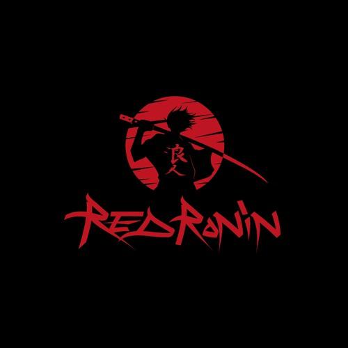 Anime-inspired logo for RED RONIN