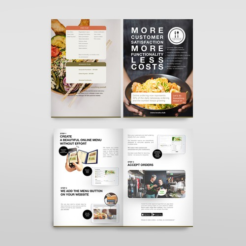 Flyer for online system restaurant