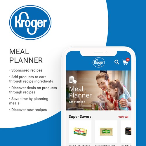 Kroger Meal Planner for grocery store app