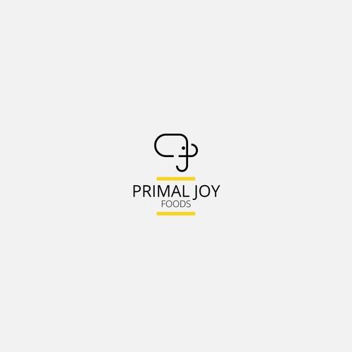 Minimal logo Primal Joy foods