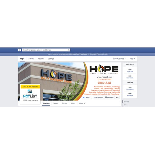 Hope facebook cover love