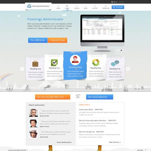 Web design for an online CRM