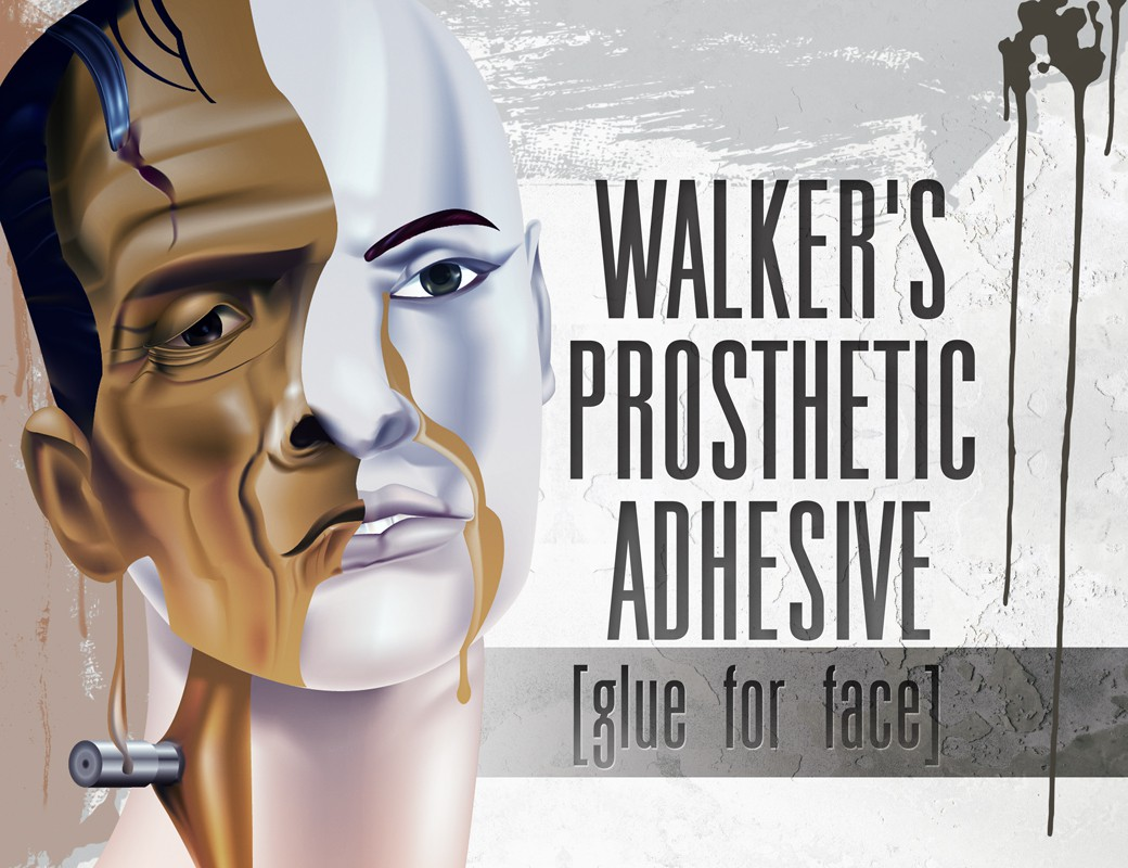 Label design for Walker's Prosthetic Adhesive!