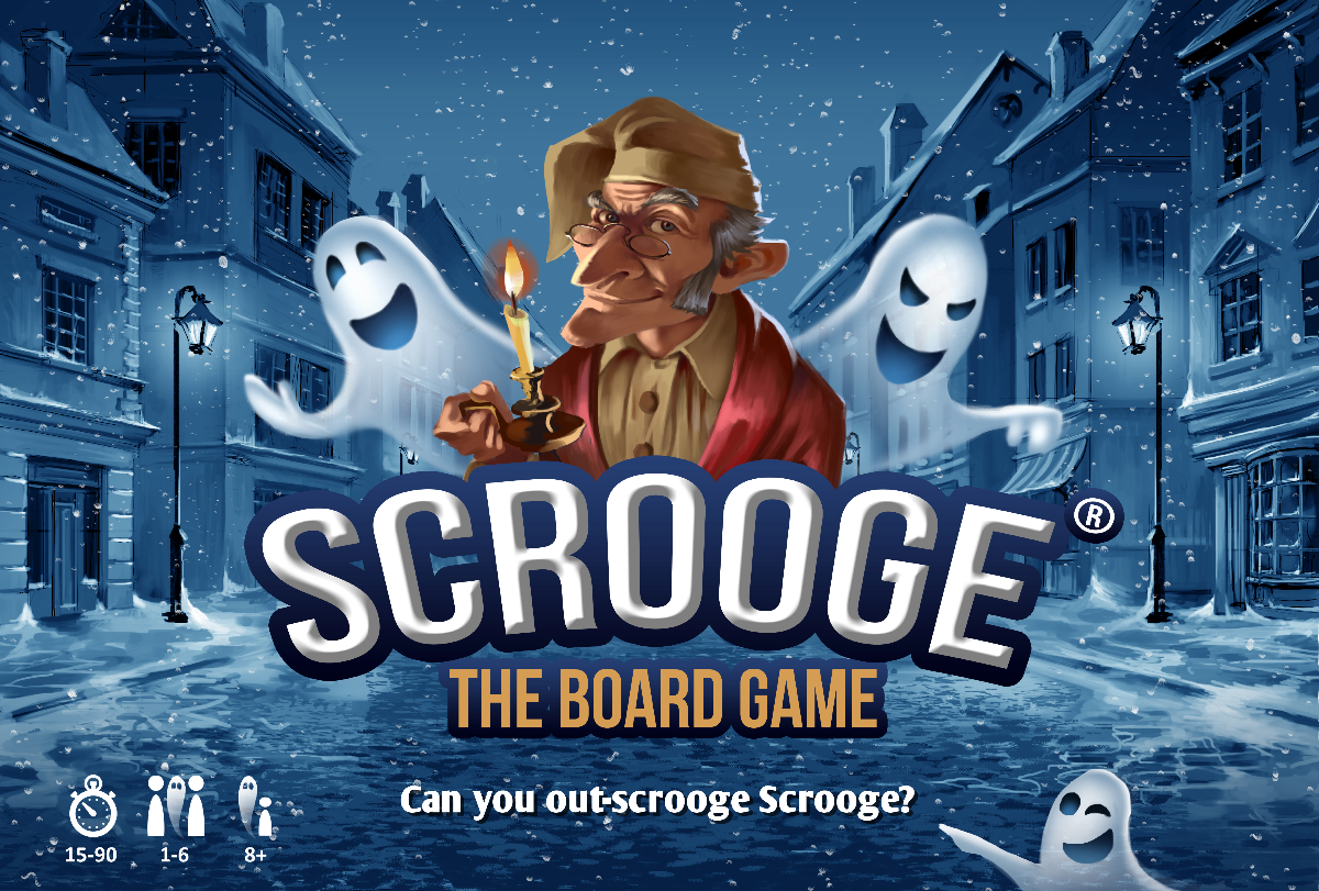 Create a spookily attractive and eye catching lid for Scrooge - The Board Game
