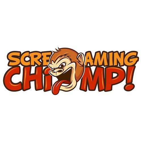 Logo Concept for Screaming Chimp