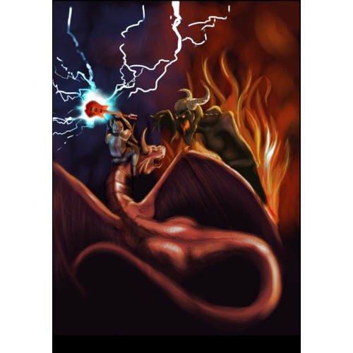 paladin guitars knight vs demon