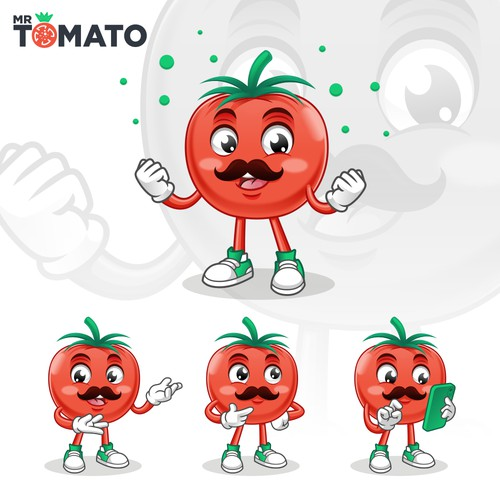 Mascot Design for Mr Tomato