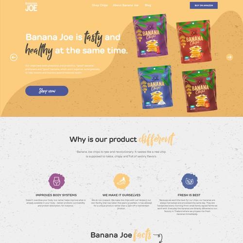 Banana Chips Web page