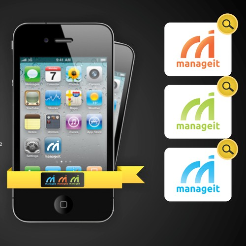 Create the next logo for new app Manage It