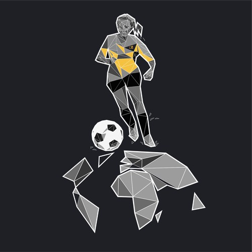 Girl running with ball