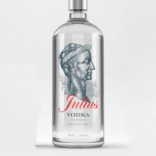 Vodka label