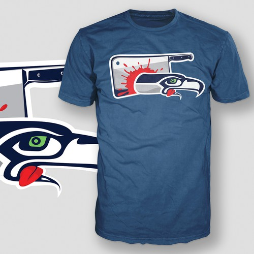 """Seattle Seahawks - Meat Cleaver"" - T-shirt"