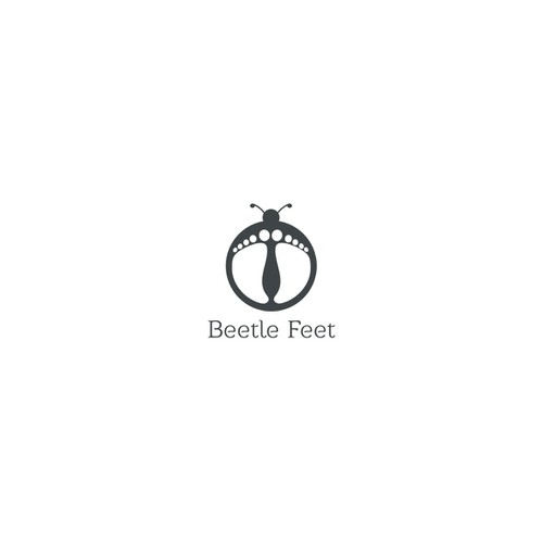 Create a fun logo for 'Beetle Feet' children's shoes