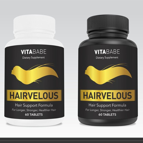 Hair Supplement Label