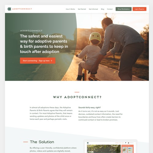 AdoptConnect's Home Page Redesign