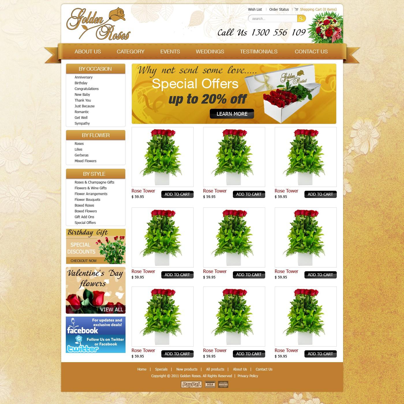 Golden Roses needs a new website design