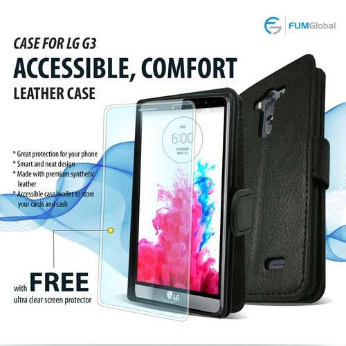 Photoshop LG G3 leather case