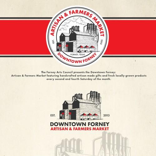Downtown Forney: Artisan & Farmers Market Logo