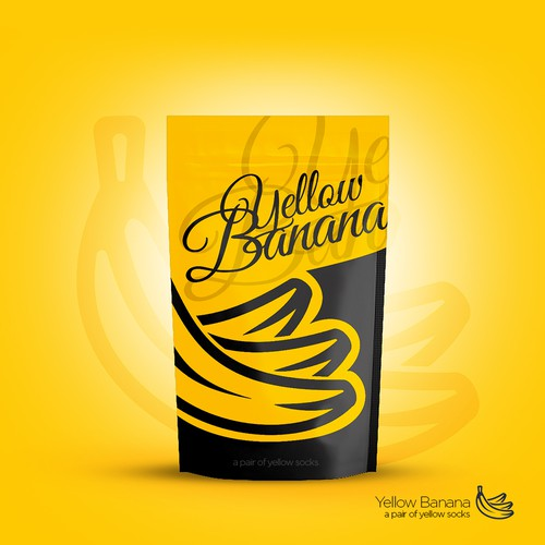 Pouch Design for Yellow Banana