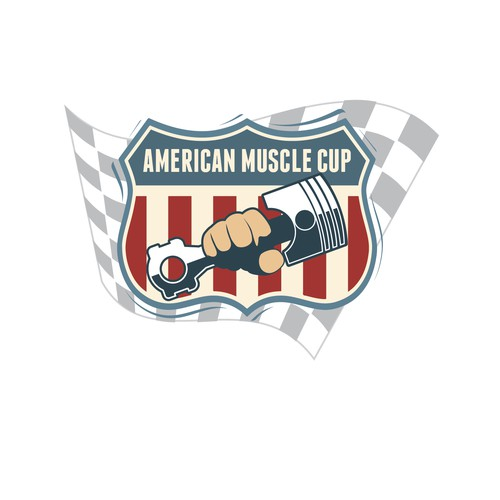 AMERICAN MUSCLE CUP RACING LOGO