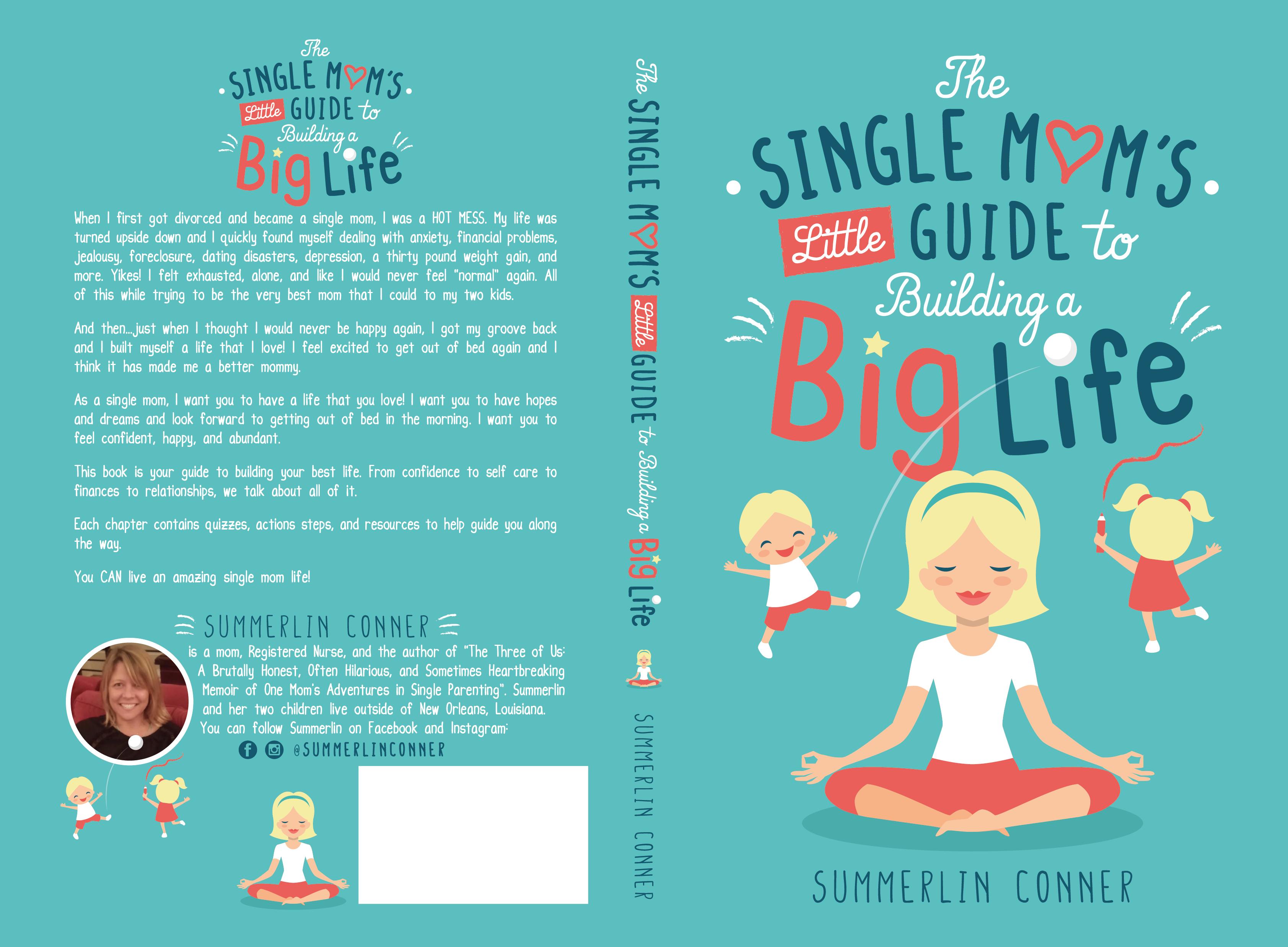 Fun, whimsical, colorful self-help book cover