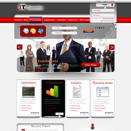 Create the next website design for www.iteconomics.com