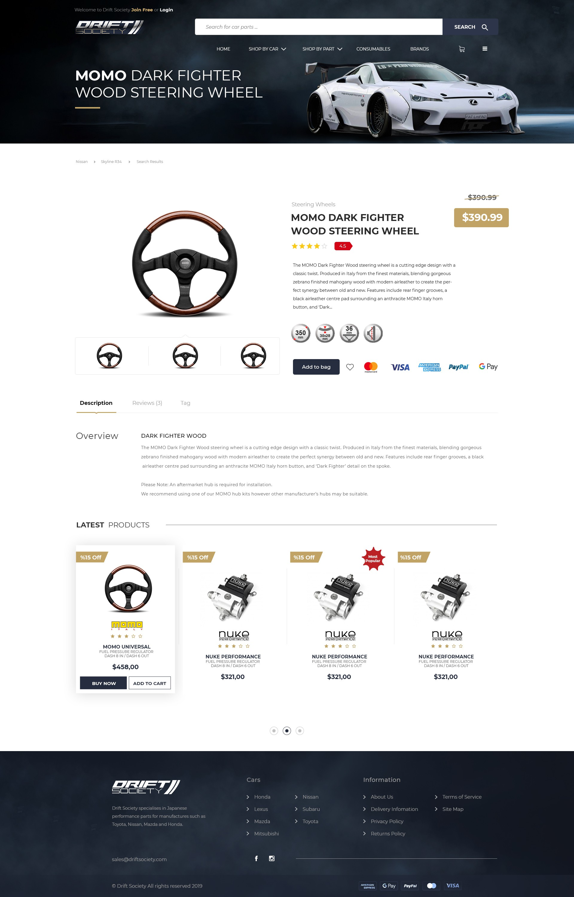 Redesign Automotive parts store website Drift Society - Shopify