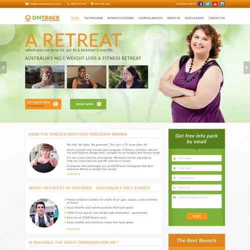 "Web page Design for phisical fitness of ""ONTRACK"""