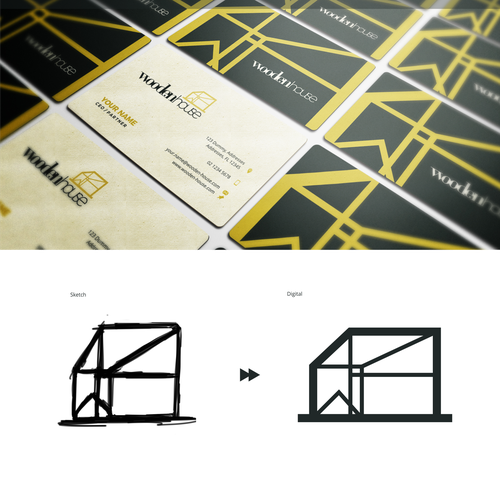 Architectural logo and business card concept (For Sale)