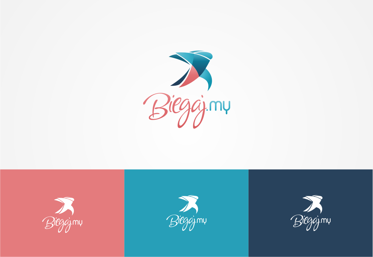 Design logo with pictogram for mobile app for runners.