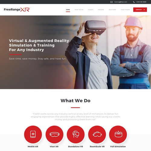 Webdesign for FreeRangeXR