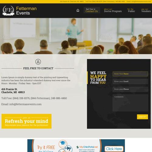 Fetterman Events Website Redesign 2014