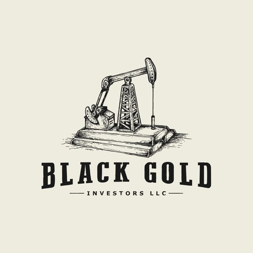 Vintage Logo for Oil Money Management