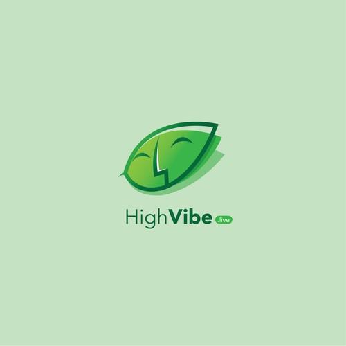 Unique and bold logo design for Highvibe.live