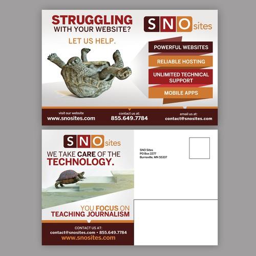 Postcard design for SNO Sites